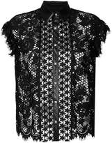 John Richmond lace sleeve-less blouse