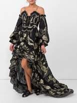 Dundas Floral applique ruffled dress