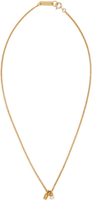 Isabel Marant Gold and Ecru New All Right Necklace