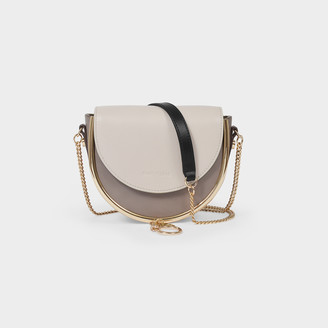 See by Chloe Mini Hana Crossbody Bag In Grey Soft Leather