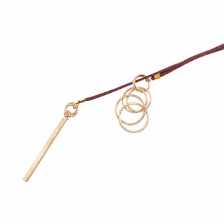 Abbott Collection 54-BOHO-NK-6567 Burg Thread-Thru Necklace-36 Long