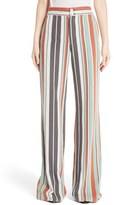 Chloé Women's Mixed Stripe Wide Leg Pants