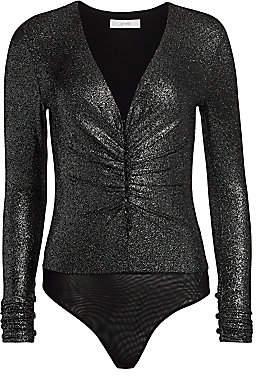 Scripted Women's Metallic Long-Sleeve Bodysuit