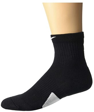 Nike Elite Basketball Mid Socks (Black/White/White) Crew Cut Socks Shoes