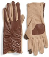 Echo Women's 'Touch' Ruched Leather Gloves