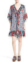 See by Chloe Women's Floral Flounce Tunic Silk Dress