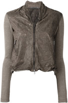 Transit - contrast sleeve jacket - women - Linen/Flax/Leather/Polyamide/Viscose - 4