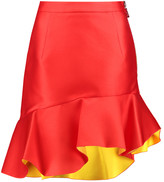 Preen by Thornton Bregazzi Curzon ruffled asymmetric satin mini skirt