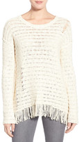 Pam & Gela Fringe Open Back Sweater