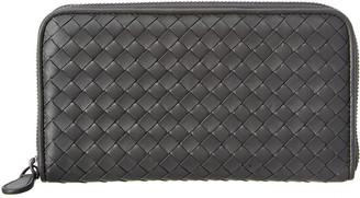 Bottega Veneta Intrecciato Nappa Leather Zip Around Wallet
