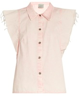 Rachel Comey Laurel cap-sleeved denim top