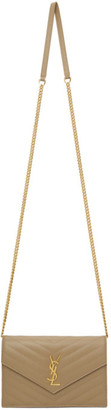 Saint Laurent Gold Monogramme Envelope Chain Wallet Bag