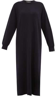 Extreme Cashmere - No. 106 Weird Stretch-cashmere Sweater Dress - Womens - Navy