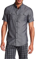 Burnside Short Sleeve Solid Regular Fit Woven Shirt