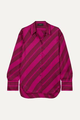 Joseph Doy Striped Silk-satin Blouse - Pink