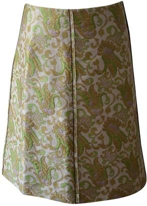 Prada Green Silk Skirt for Women