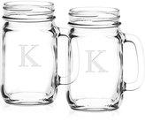 Culver Monogram Mason Jars, Set of 2