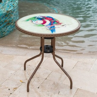Panama Jack Island Breeze Glass Bistro Table Outdoor