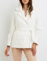 Charlotte Russe Wool Blend Double-Breasted Peacoat