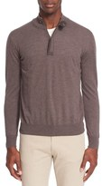Canali Men's Wool Quarter Zip Sweater