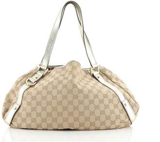 Gucci Abbey Shoulder Bag GG Canvas Medium