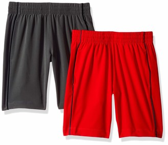 Spotted Zebra 2-Pack Active Woven Shorts Orange/Grey Small (6-7)