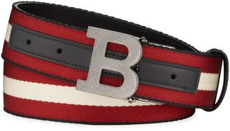 Bally Men's Trainspotting B-Buckle Reversible Belt