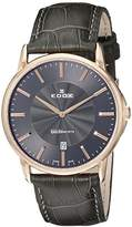 Edox Men's 56001 37R GIR Les Bemonts Analog Display Swiss Quartz Grey Watch