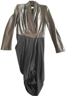 Les Hommes Black Leather Dress for Women
