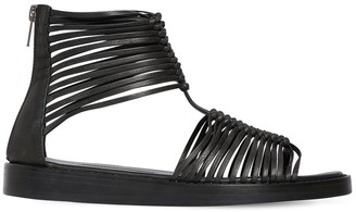 Ann Demeulemeester 20mm Leather Flat Sandals