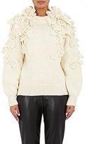 Spencer Vladimir Women's Floral-Appliquéd Crewneck Sweater-IVORY