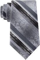 Van Heusen Flex Floral Stripe Silk Tie