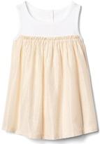 Gap Shimmer stripe tank dress