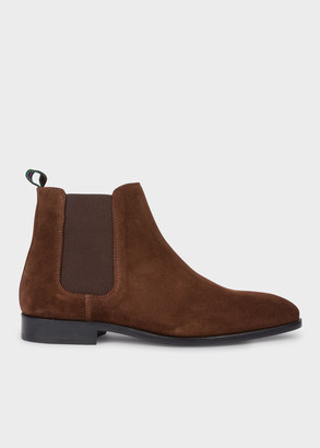 Paul Smith Men's Dark Brown Suede 'Gerald' Chelsea Boots