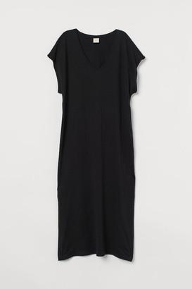 H&M Jersey Kaftan Dress - Black