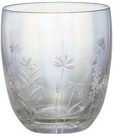 John Lewis Iris Luster Floral Cut Glass Tumbler