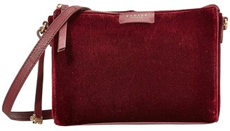Radley London Selby Street - Velvet - Small Crossbody Clutch (Black) Clutch Handbags