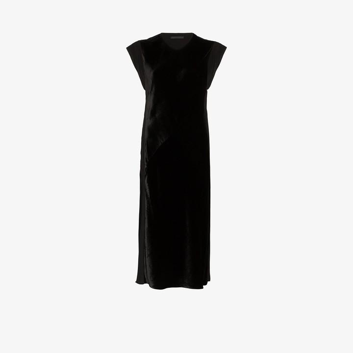 Helmut Lang Velvet Front Shift Dress