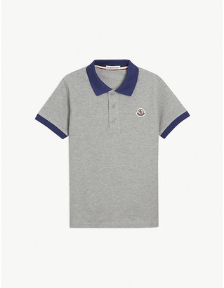 Moncler Branded cotton polo shirt 4-14 years
