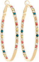 Fragments for Neiman Marcus Large Multicolored Crystal Hoop Earrings
