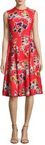 Jason Wu Floral-Print Sleeveless Dress, Red