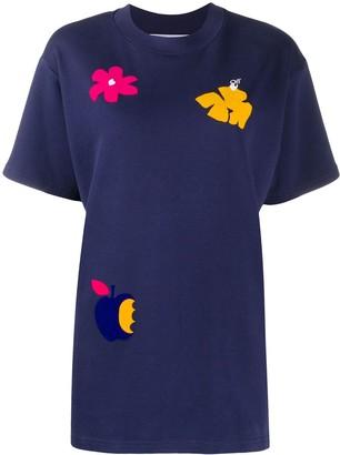 Off-White Arrows-motif floral-print T-shirt