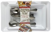 Reflections Serving Tray Set with Silver Plastic Serving Utensils, 10ct.
