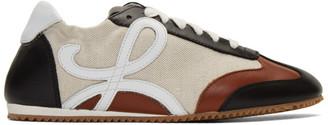 Loewe Beige and Navy Ballet Runner Sneakers