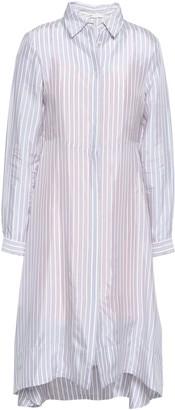 Maje Striped Woven Shirt Dress