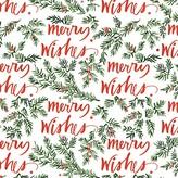 Fringe Brush Merry Wishes Gift Wrap