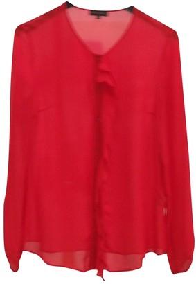 Adolfo Dominguez Red Silk Top for Women