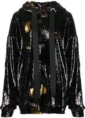 Marques Almeida Marques'Almeida sequin embellished hoodie