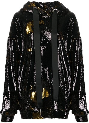 Marques Almeida Sequin Embellished Hoodie
