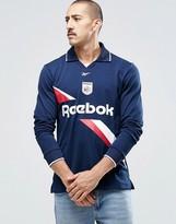 Reebok Collared Sweatshirt In Blue AY4859